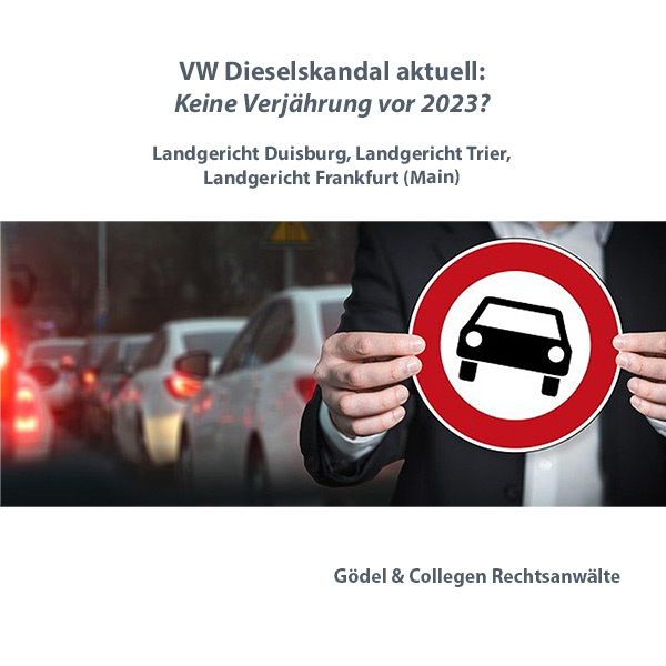 Dieselskandal: Keine Verjährung in 2020, Verjährung 826 BGB